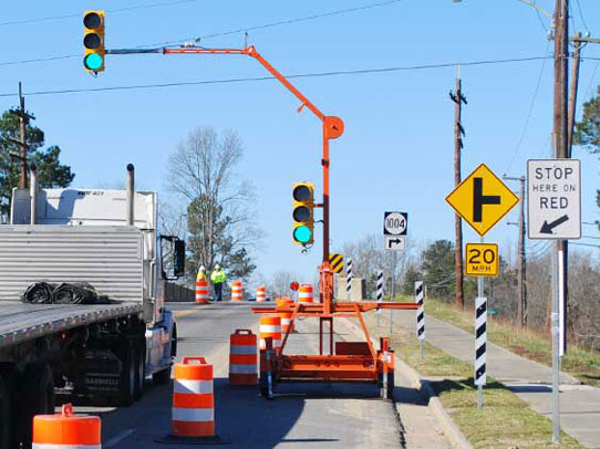 Portable Traffic Signals from ACME Barricades | Rental Products