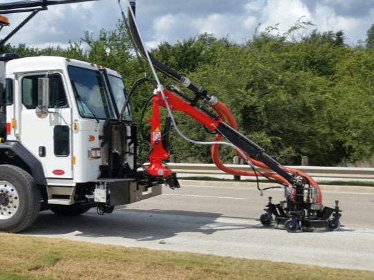 Pavement Marking Waterblasting removal truck